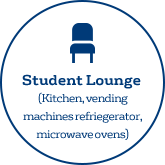 Student Lounge [Kitchen, vending machines, refrigerator, microwave ovens]